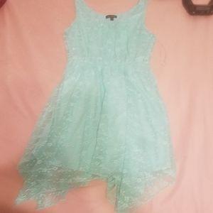 Cute Mint Green Laced Summer Dress